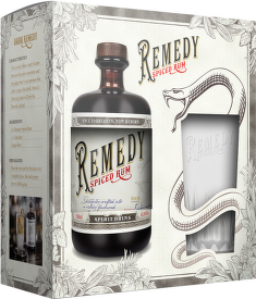 Remedy Spiced Rum 0,7l + sklenice