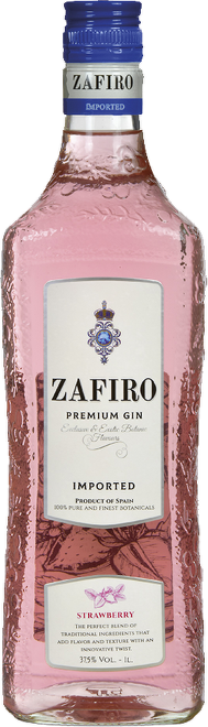Zafiro Pink Premium Gin Strawberry 1l