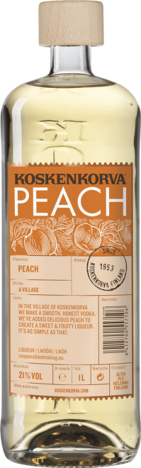Koskenkorva Peach vodka 1l