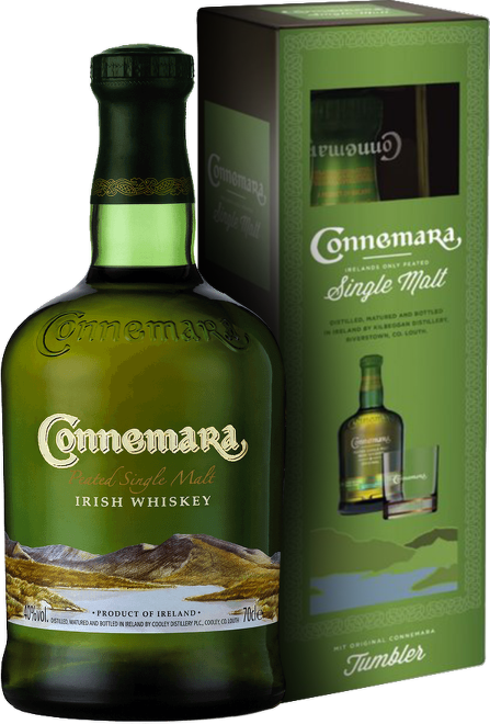 Connemara Peated Single Malt Whiskey 0,7l + sklo