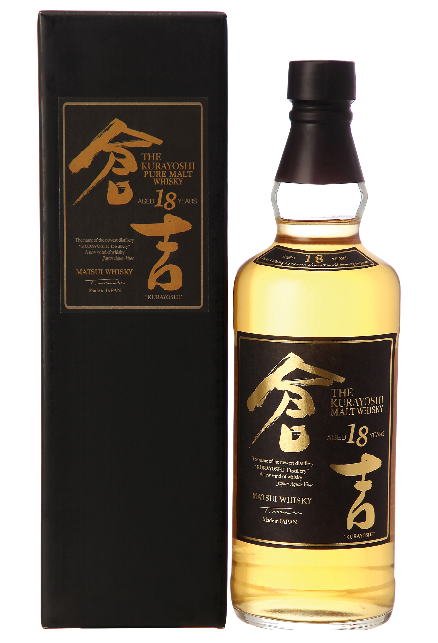 Kurayoshi Pure Malt 18 Years Old, Japanese Whisky 0,7 L