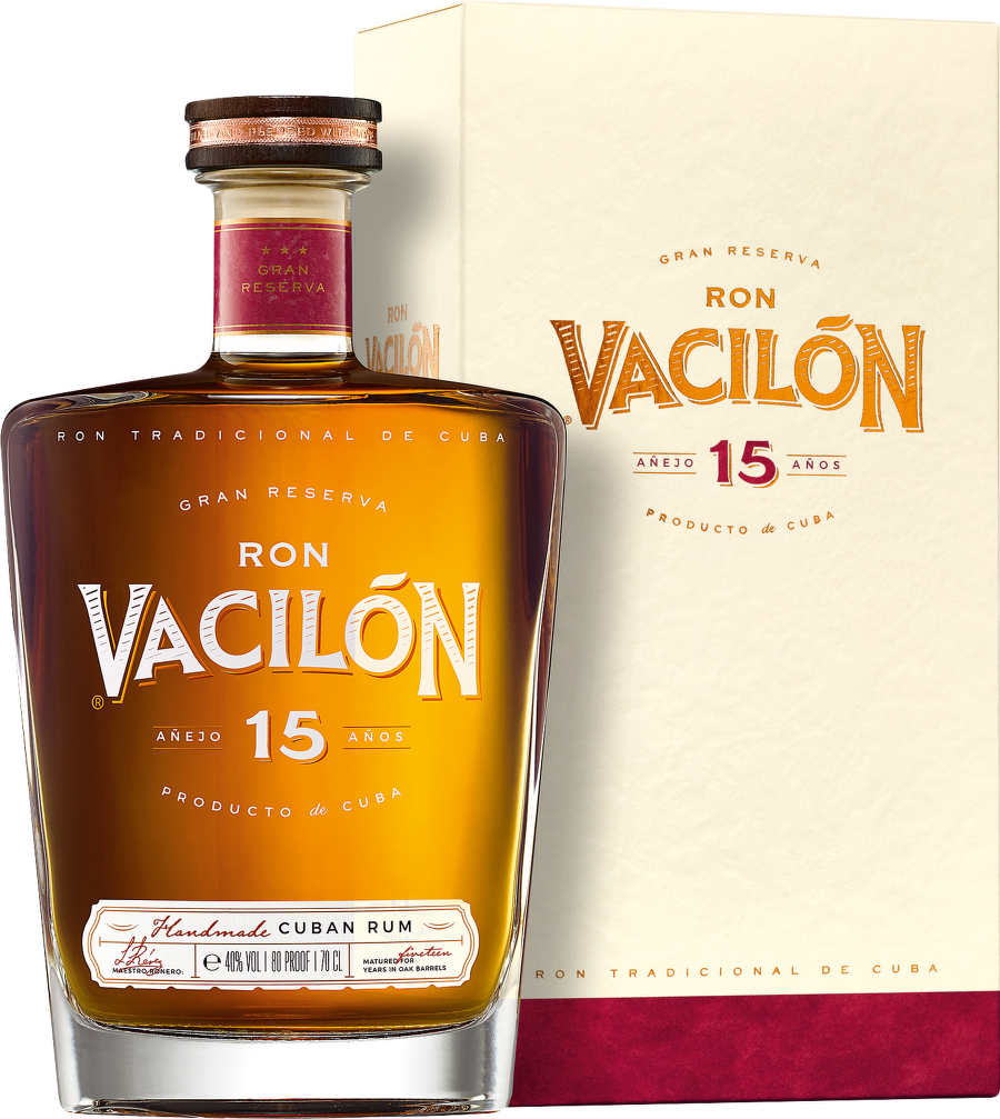 Ron Vacilón 15 Years Old Gran Reserva, Cuban Rum 0,7 L