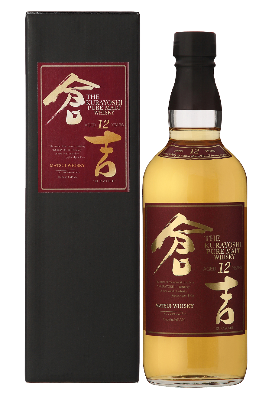 Kurayoshi Pure Malt 12 Years Old, Japanese Whisky 0,7l